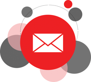 eMail logo on red circle